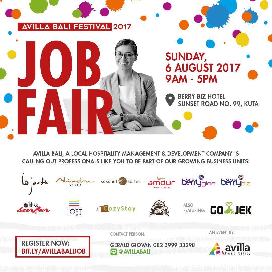 Info Job Fair Bali Agustus 2017